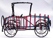 Old Style Folk Art Car Made From Colored Telephone Wire By C. Dale In Museums.