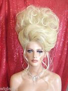 Halloween Special Vegas Girl Wigs Pick Your Color Awesome Big Updo Classy Gibson