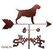 Swen Products Wirehaired Pointing Griffon Dog Steel Weathervane