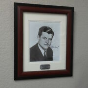 Edward Ted Kennedy Signed Early Framed Photograph
