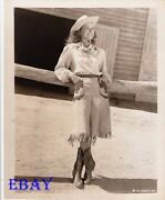 Noel Neill Sexy Cowgirl Vintage Photo Over The Santa Fe Trail