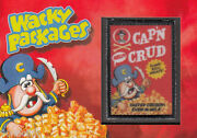 2013 Wacky Packages Series 11 Patch Card Capn Crud Crunch Parody