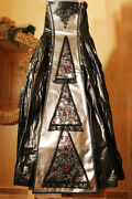 Leather And Pvc Long Dress Handmade Designer Authentic Medieval