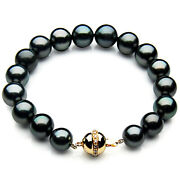 New Pacific Pearlsandreg 10-12mm Black Tahitian Diamond Pearl Bracelet Gifts For Wife