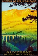 3015.auvergne Plomb Du Cantal France Travel Poster.french Art Office Decor