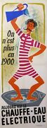 Vintage French Poster - Today The Electric Water Heater By Jean Colin 1950