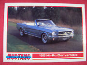 1965 Hi-po Convertible 100 Mustang Cards Trading Cards