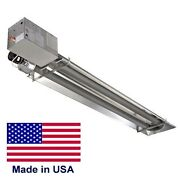 Compact Infrared Tube Heater Commercial - 45000 Btu - Natural Gas - 9 Ft - 120v