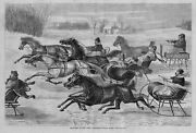 Horses Sleighing Carnival Sleigh Rides Two In Hand Sleigh Bells Trotters Harness