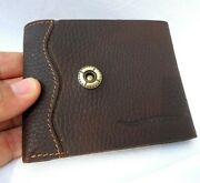 Menand039s Real Leather Wallet 3 Card Slots 1 Id Window 3 Bill Compartments Bifold M