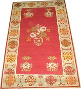 Antique Gorgeous Turkish Mudjur Ghiordes Oushak Ushak Rug Size 3and0394and039and039x5and0396and039and039