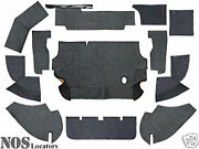 Austin Healey 100-4 12-pc Armacord Trunk Liner Kit - Concours Grade