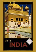 3507.visit India Travel Poster.house Of Gold.home Store Shop Art Decoration.