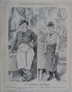 7x10 Punch Cartoon 1925 An Optical Illusion Butcher Meat Trade / Royal Commissi