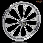 Harley Davidson 21 Inch Custom Front Wheel And Tire By Ftd Customs The Wizard