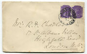 South Australia From Adelaide To London Pair Of Stamps 2 Pence Each  M