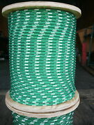 Novatech Xle Halyard Sheet Line Dacron Sailboat Rope 5/16 X 200and039 Green/white