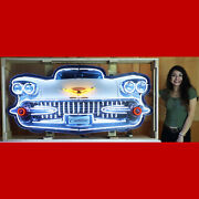 Neon Sign Cadillac Grille Garage Wall Lamp In Steel Can 1958 Eldorado 1959 Coupe