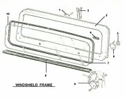 Windshield Glass And Seal Package 1987-95 Jeep Wrangler, 3 Pc Glass And Cowl Seals
