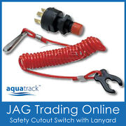 12v Safety Cut-out Ignition Kill Switch With Lanyard - Boat/outboard Engine/pwc