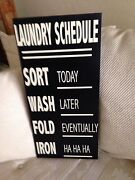 Laundry Wall Decal Vinyl Lettering Words Quotes Decals Laundry Schedule Humerous