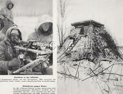 Wwii German Large9.25x7.25 Press Photo Image- Mg 34- Smg Mp40- Bunker- Russian
