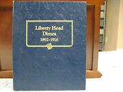 Barber Head Dimes-62 Specimens In Whitman Coin Book -free Shipping