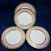 Haviland And Parlon 4 Piece Lot Rose Dand039or Golden Roses 10 Dinner Plates Dishes