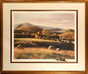 Adolf Sehring Autumn Fields Hand Signed Fine Art Print With Original Remarque