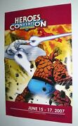 Marvel Fantastic Four Silver Surfer Charlotte Heroes Convention Comic Con Poster