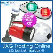 Complete Led Boat Light Kit And Torch-port Starboard Navigation/anchor/cabin/torch