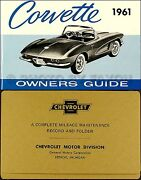 1961 Corvette Owners Manual With Envelope 61 Owner Guide Book New Chevrolet