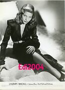 Lauren Bacall Vintage Original Signed Autograph Card And 1945 Photo 'to Have Not