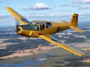 Saab Safir 3 To 4 Seater Single Engine Trainer Aircraft Wood Model Free Shipping