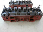 Vintage 1961 Ford Truck Engine Cylinder Heads With Valves And Springs