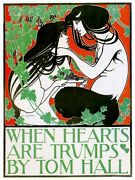 5030.when Hearts Are Trumps.mand And Woman.romance.poster.decor Home Office Art