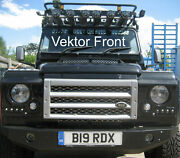 Rdx Vektor Front Headlamp Surrounds Drl Air Con Grille Defender Gloss Black