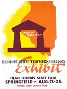 5649.illinois State Teachers College.exhibit.state Fair.poster Home Office Decor