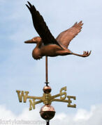 Heron Copper Weathervane With Copper Balls And Brass Directionals 112