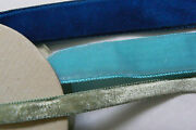 Lot Of 3 Spools 17 Yards Silk Swiss And French Rayon Velvet Ribbon Trim Satin Back