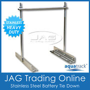 Aquatrack Stainless Steel Battery Tie Hold Down Set - Heavy Duty Holder/clamp