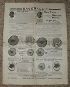 1905 Ted Kennedy Wax Face Baseball Glove Adv. Poster