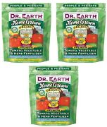 3 Ea Dr Earth 704p 4 Lb 5-7-3 Organic Tomato Vegetable And Herb Fertilizer