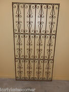 Very Nice Antique 100+ Year Old French Wrought Iron Gate Headboard