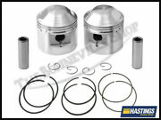 Triumph 650 Bonneville Tiger Trophy +0.080 Pistons And Hastings Rings Pn 70-9488