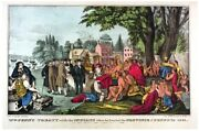 6905.william Pennand039s Treaty With Natives.province Founded.poster.art Wall Decor