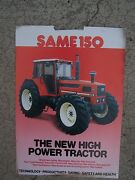 1987 Same 150 High Power Tractor Color Promo Ad Specifications Features S