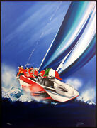 Victor Spahn Regate Iii Signed Numbered Lithograph Boat Race Italy European