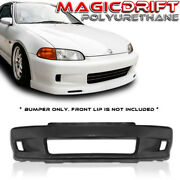 For 92-95 Honda Civic Eg Coupe Wc Whitecrow Style Front Bumper Cover Body Kit