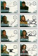 Smallville Autograph Pieceworks And Wardrobe Card Selection Nm Inkworks Cryptozoic